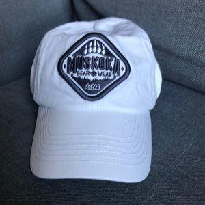 Muskoka Bear Wear White Baseball Cap